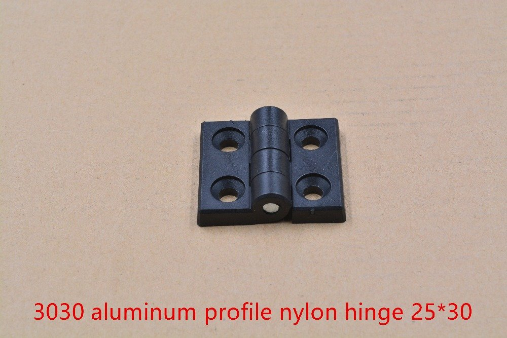 NJPOWER 3030 Aluminum Profile Plastic Nylon Joint Section Connector Door and Window Hinges 25x30