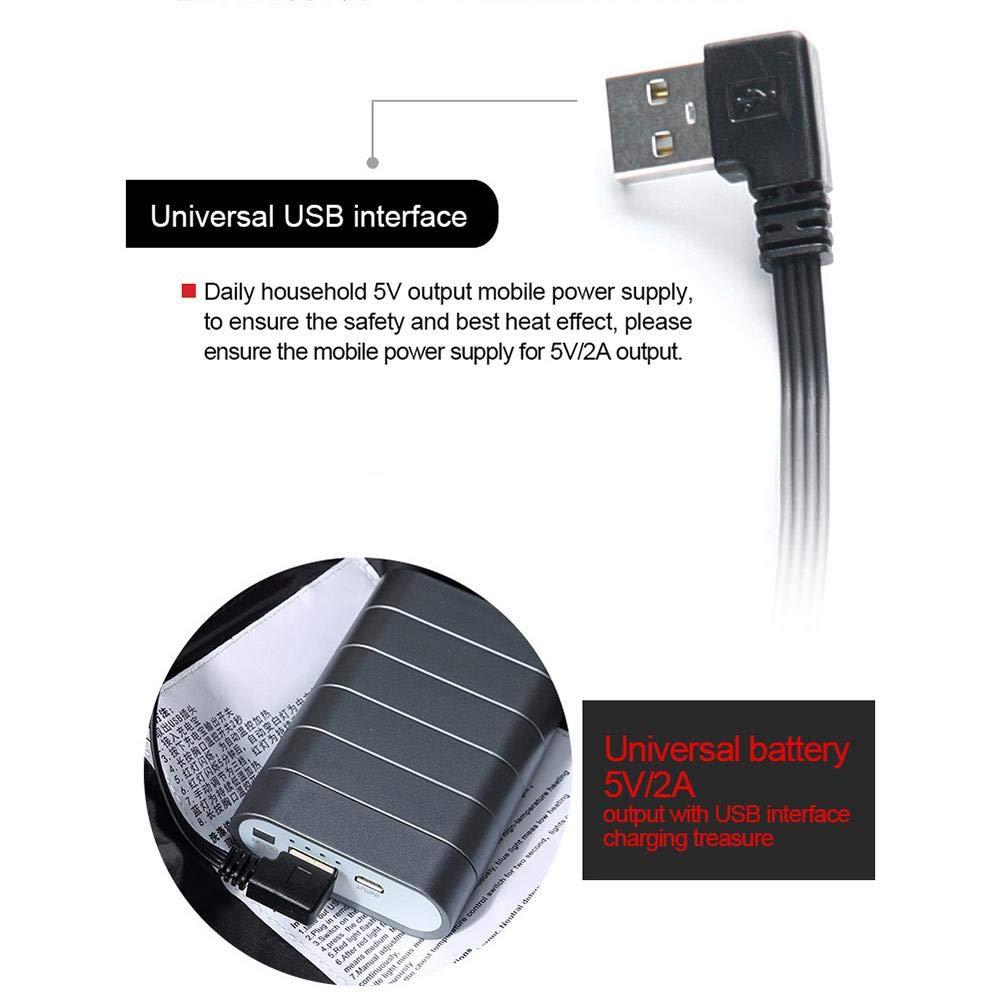 bater/ía no incluida lavable inteligente de collar del soporte de abajo algod/ón,L//XL//2XL//3XL Chaleco Termico de camuflaje,Chaleco Chaqueta calefactable,Carga USB temperatura ajustable de tres niveles