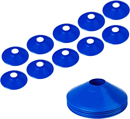 Cone Markers 10Pcs,Blue-red,24g BiAnYC Pro Disc Cones,Training Cones for Agile Training//Soccer Training//Football//Kids//Field//Other Games etc