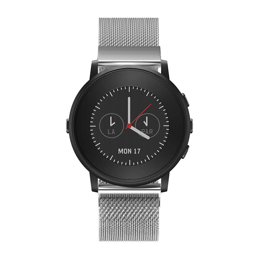 Fit Pebble Time Round Mayunn Milanese Magnetic Loop ...