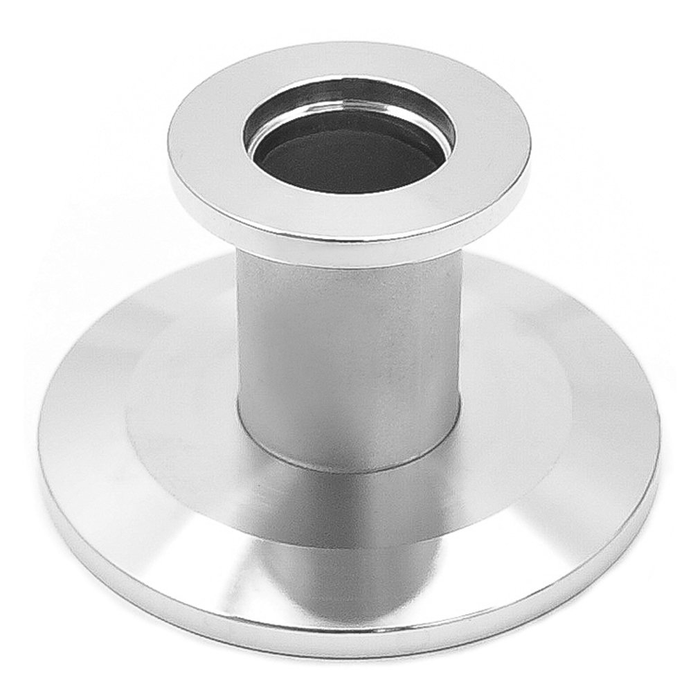to KF-40 NW40 Stainless Steel,Vacuum Adapter Reducer Straight KF-16 Vacuum Fittings Flange NW16