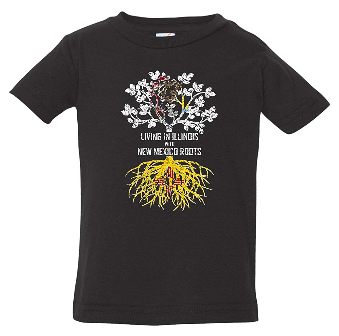 Tenacitee Babys Living in Illinois Mexico Roots Shirt