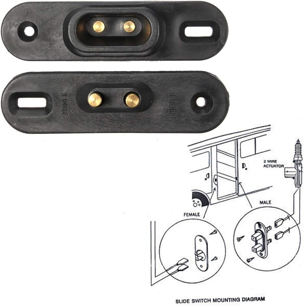 New 2Pcs Black Sliding Door Contact Switch for VW//T4//FORD Van Central Locking Systems Car Alarm