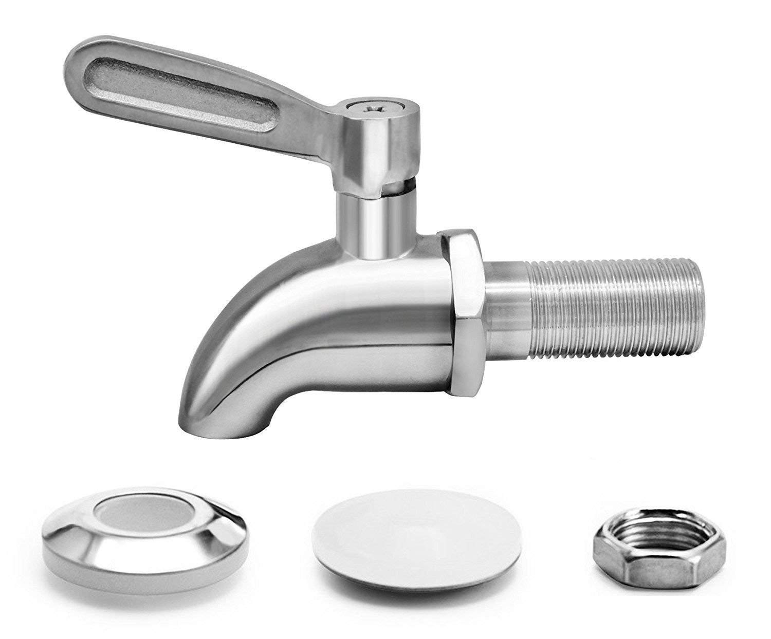 Stainless Steel Beverage Dispenser Replacement Spigot with filter Beer Faucet Fits 5/8 Inch Water Dispenser Wine Tap for Juice Cold Drink Wine Kombucha Tea(Dispenser Replacement Faucet)