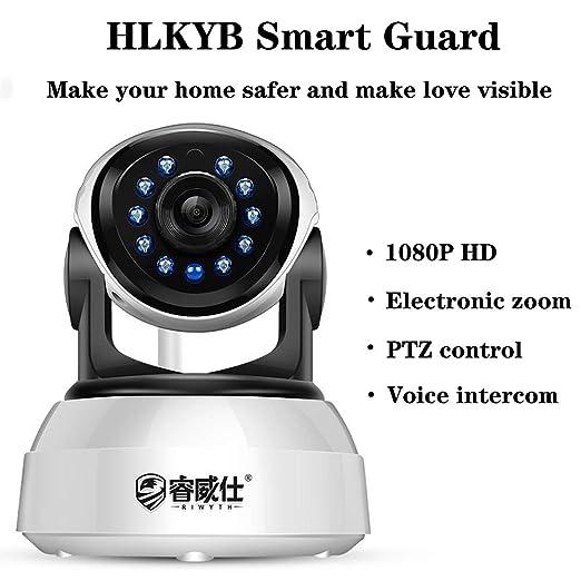 Cámara de vigilancia de Seguridad, 1080 HD Pan/Tilt WiFi ...