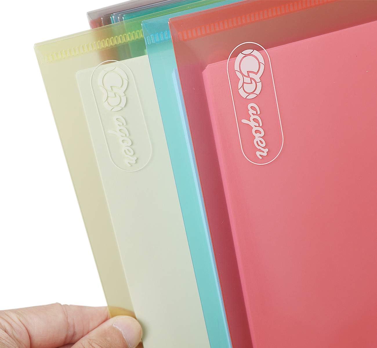6 farbige Dokumentenmappe Brieftaschen zum Dokumenten Abheften mit Brief-Taschen und 30 St/ück Gifted Visitenkarte 24 x Klett-Verschluss Dokumententasche A4
