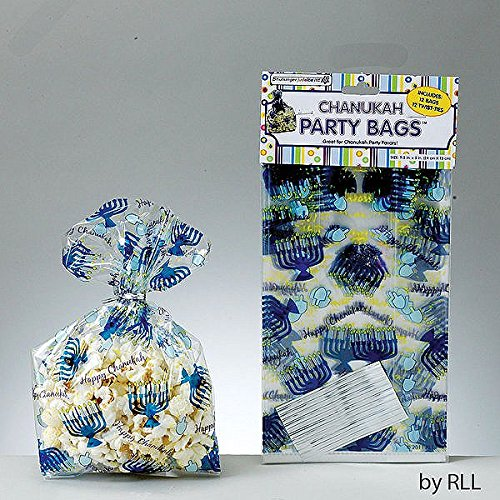 Chanukah Cellophane Party Bags with Twist Ties (1) -