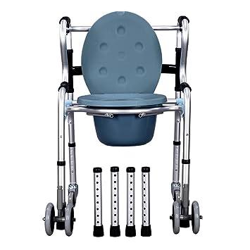 Chaise Roulante Mobile En Aluminium De Transport De Chaise De Chaise