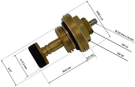 Uponor kompatibel Ventileinsatz Rücklauf 1006632