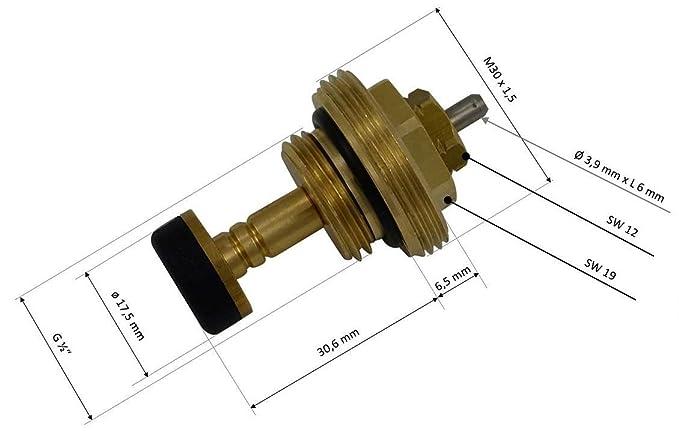 Roth 1//2 Thermostatventil 1150006153 Ventileinsatz f/ür Universal Verteiler