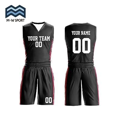 b76ffcedbc2c Amazon.com  M-W Sports Custom Basketball Jerseys with Your Name ...