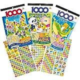 Lot de 3 Livres d'Autocollants pour enfants sur les Insectes, Les animaux et le Monde la mer