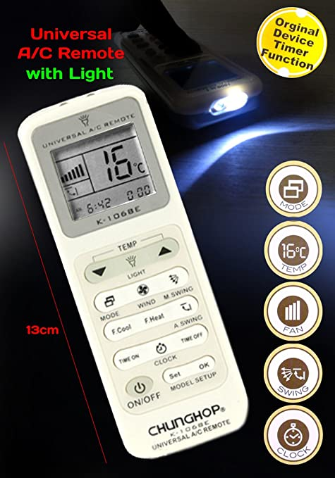 Display light Universal Remote Control for Air Conditioner