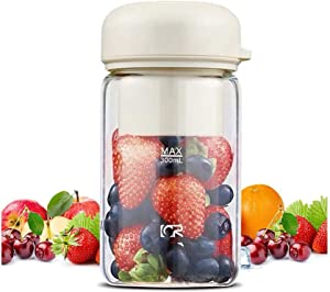 Ice-Beauty-ukzy Smoothie Blender, Personal Blender, with USB Rechargeable Small Blender Personal Size Blenders Smoothies and Shakes, Mixer with Cup for Home Kitchenpink