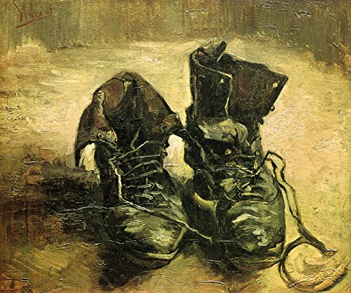 Vincent van Gogh A Pair of Shoes 30x25 Wall Art Giclee Canvas Print (Unframed) (Shoes Vincent Gogh Pair Van)