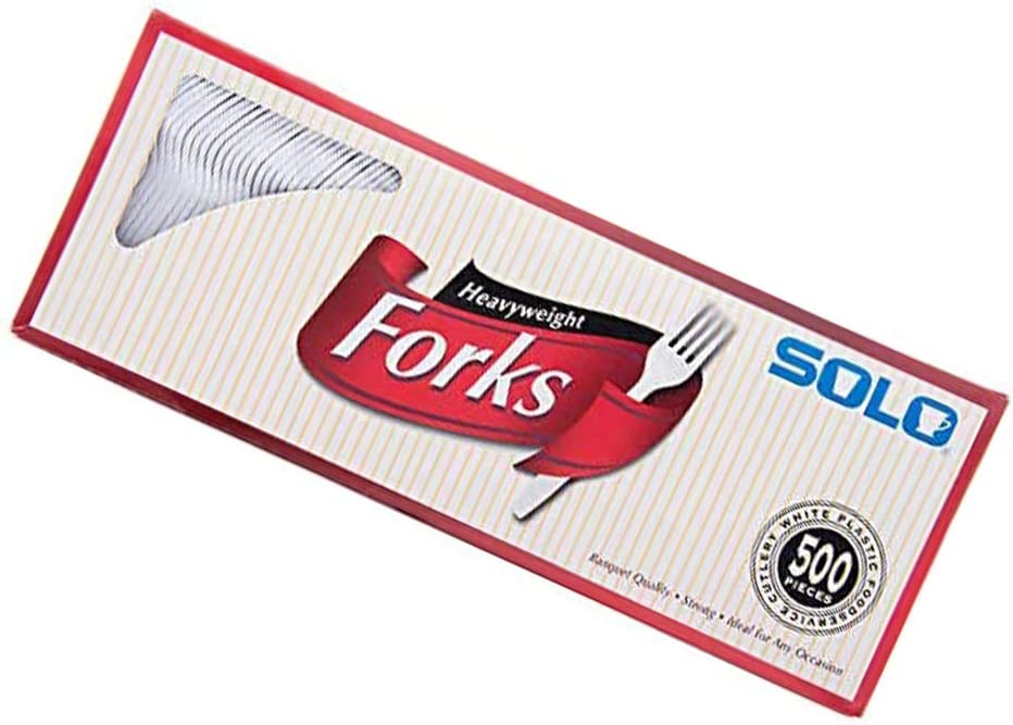 Standard White,17.2 x 6.6 x 4.2 inches Heavyweight Plastic Cutlery Forks