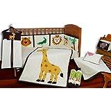 Aurraa Jungle Theme Crib Bedding set without Bumper-9 Pcs (CB-10107)