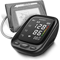 Hylogy Upper Arm Blood Pressure Monitor Machine with 2-Users 180-Reading Memories, Large LED Display and Adjustable Cuff, Support Type-C Charge