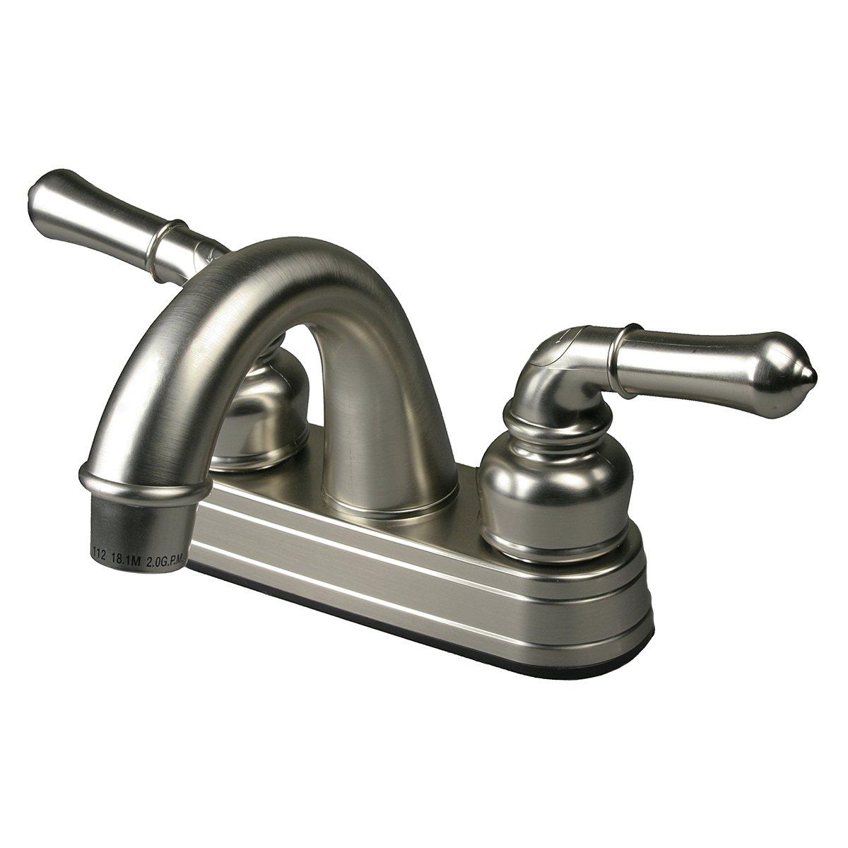 RV / Mobile Home Motor Bathroom Bath Sink Faucet, Brushed Nickel by HowPlumb