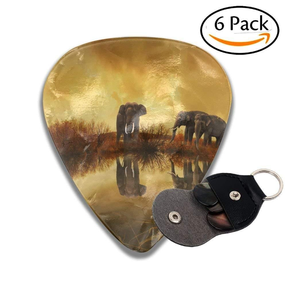 Thailand Elephant Sunset Classic Guitar Picks For Electric/acoustic Guitar, and Bass biernsege