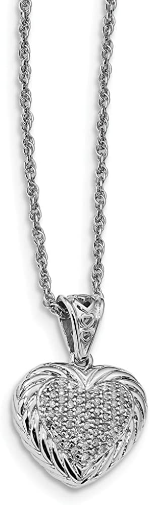 925 Sterling Silver Cubic Zirconia Cz Heart 18 Inch Chain Necklace Pendant Charm Fancy S//love Fine Jewelry Gifts For Women For Her