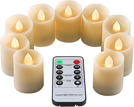Scented Electric Candles Battery Flameless Led RGB Flickering Tea Lights Remote