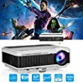LED LCD HD Video Projector Multimedia Home Entertainment Projector with HDMI USB VGA AV for Indoor Outdoor Movies Games Party