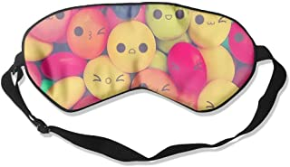 Comfortable Sleep Eyes Masks Smile Candy Printed Sleeping Mask For Travelling, Night Noon Nap, Mediation Or Yoga
