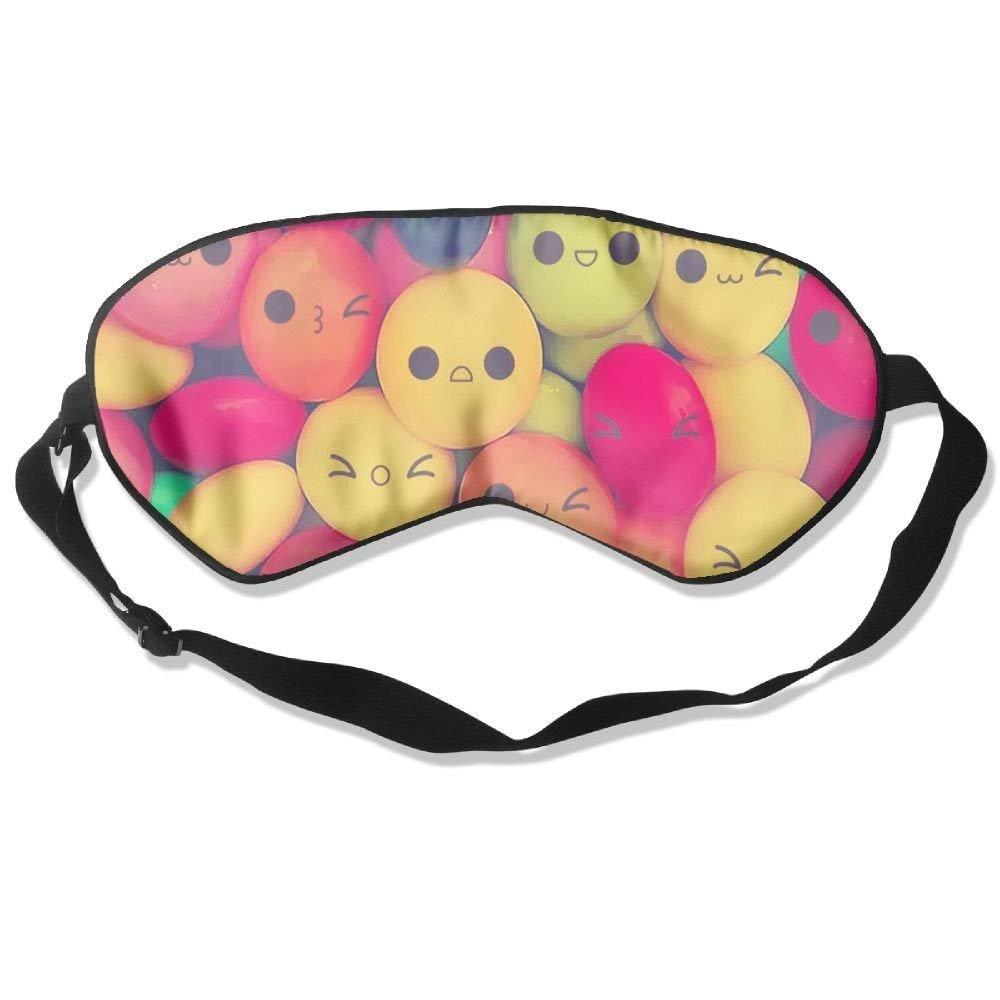 Comfortable Sleep Eyes Masks Smile Candy Printed Sleeping Mask For Travelling, Night Noon Nap, Mediation Or Yoga