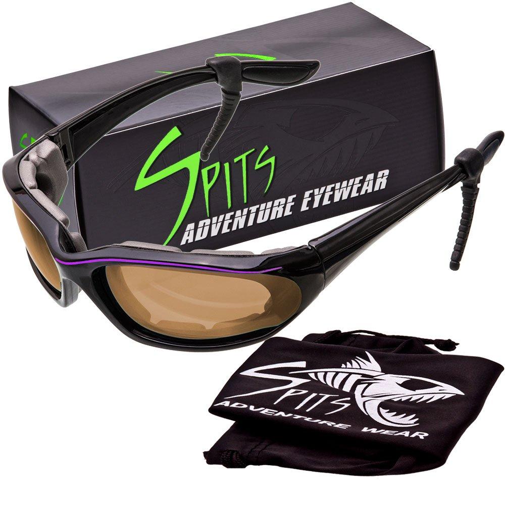Kickstand II Foam Padded Sunglasses - Small Black/Purple Frame - Driving Mirror Lenses