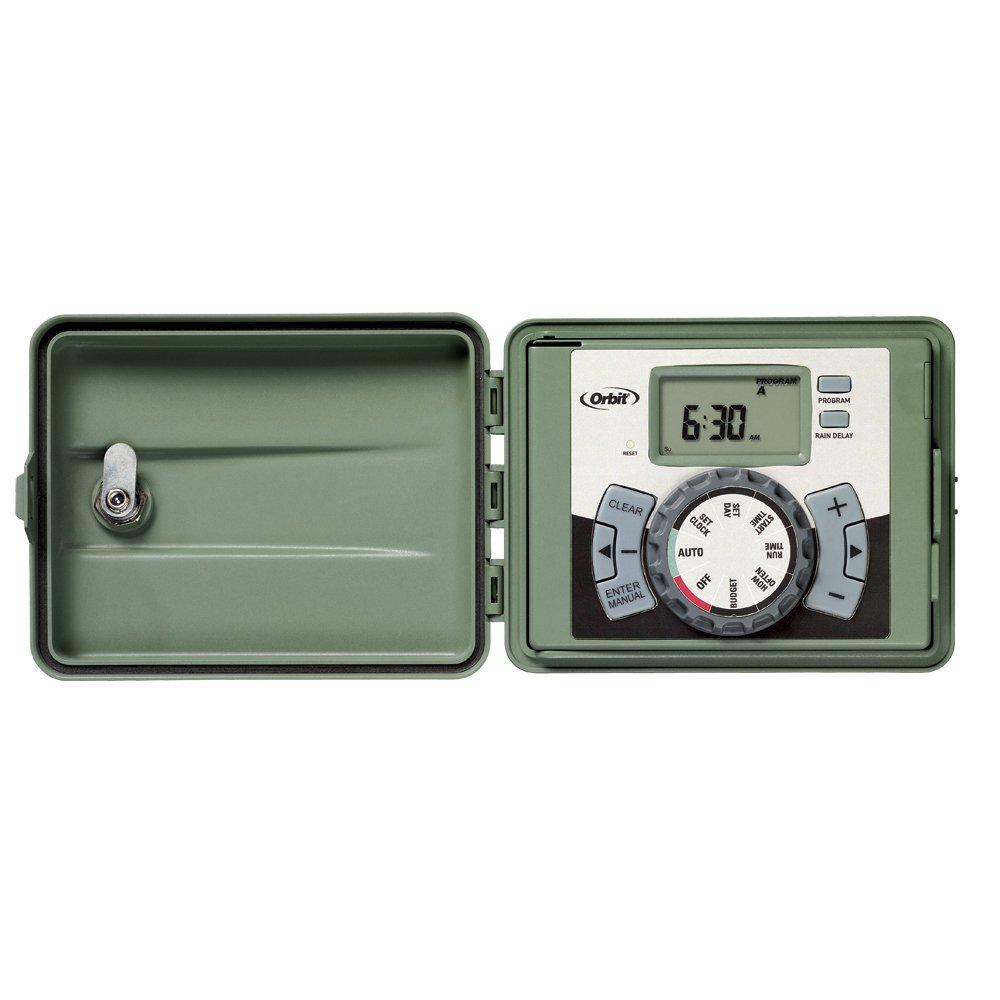 Amazon.com : Orbit 57899 9-Station Outdoor Swing Panel Sprinkler System  Timer : Watering Timers : Garden & Outdoor