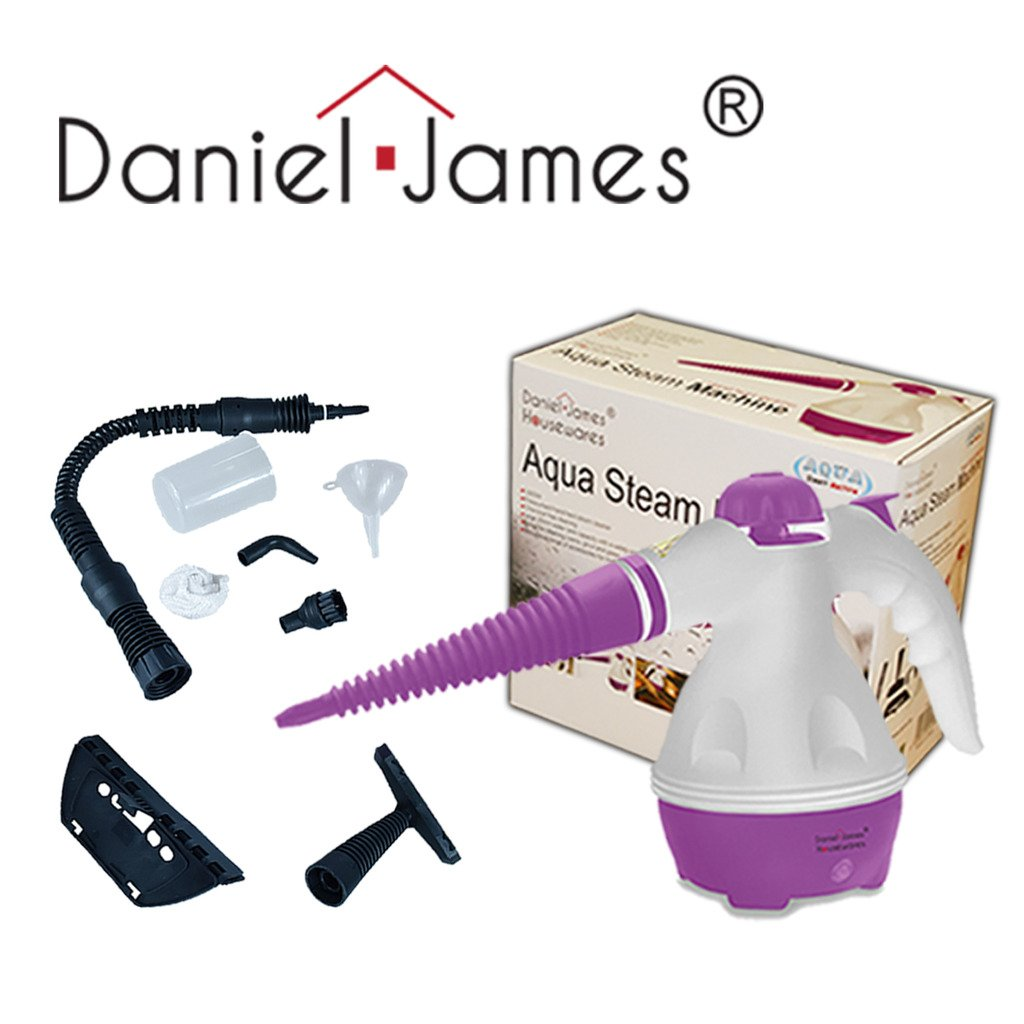 Daniel James Housewares Steam Cleaner Hand Held Steamer Kitchen Bathroom Glass Tiles Grout Oven Cleaning (Purple)