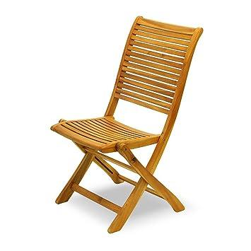 Silla plegable 100% madera acacia Muebles exterior Jardín ...