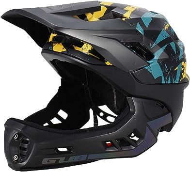 Blusea Casco Integral para Niños, Casco Modular Extraíble con Anti-cursor de Moto Esqui Bici Bicicleta Motocicleta Patinaje Cuesta Abajo Patinaje, Niño Niña (Negro - M): Amazon.es: Deportes y aire libre