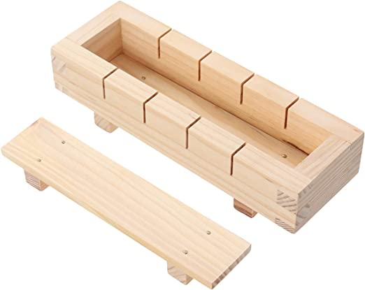 Caja de madera rectangular para hacer sushi, sushi y arroz ...