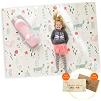 "Infant Shining Baby Play Mat, 58""x78"",0-6 Years Old Baby,Foldable Mat, Waterproof and Antislip Mat (58in*78in, Little Fox)"