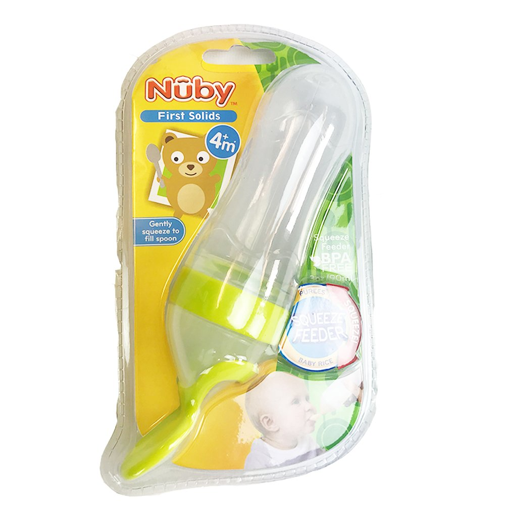 3 Ounce Nuby Natural Touch Silicone Travel Infa Feeder Colors May Vary