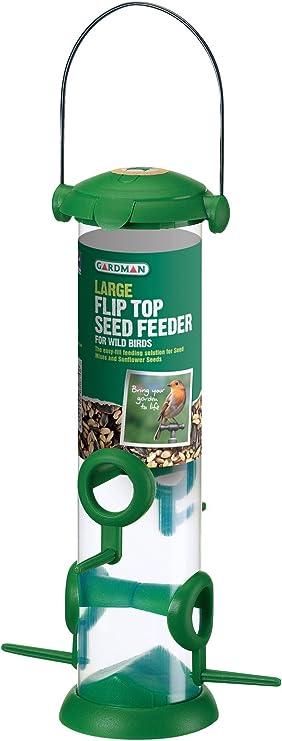 Gardman Acier Noir Seed Feeder OISEAUX SAUVAGES JARDIN Bird Care A01172
