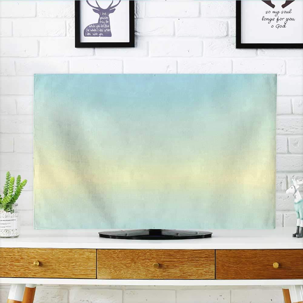 Jiahonghome あなたのTVの葉の模様を保護 枝の木 夏の森の葉 ファブリック デザイン スタイル アートプリント グリーン TV W19 x H30 インチ/TV 32インチ W36 x H60 INCH/TV 65