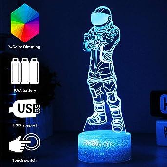 Crack Dark Voyager lumières de nuit 3D Fortress Night 7 Lampe de Table de Couleur Creative Gift Lights Peut être utilisé Comme Cadeau d'anniversair
