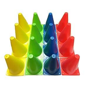 カラー 三角 コーン ミニ4色16本セット