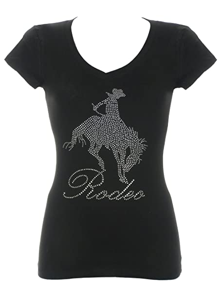 76385d77002 Amazon.com  DivaDesigns Women s Rodeo Cowgirl s Rhinestone Bling V ...