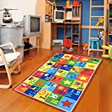Furnish my Place Kids Rug ABC Animals 3' X 5' Children Area Rug anti skid actual size 3'3'' x 5'