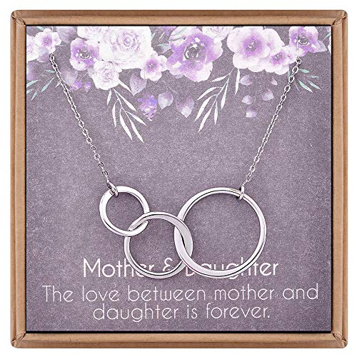 (Turandoss Circle Mother Daughter Necklace - Three Interlocking Circles 18