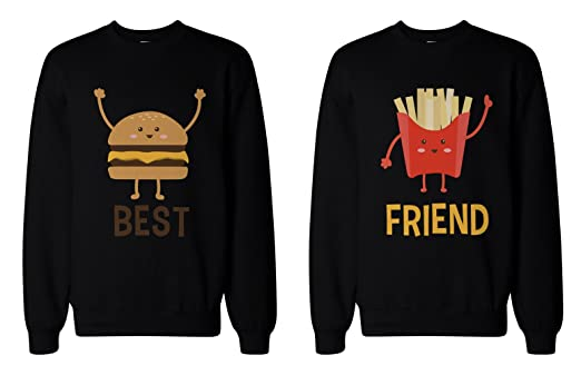 Burger and Fries BFF Sweatshirts Best Friend Matching Pullover ...