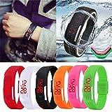 Fashion LED Electronic Sport Watch Silicone Digital Sport Bracelet Wristwatch