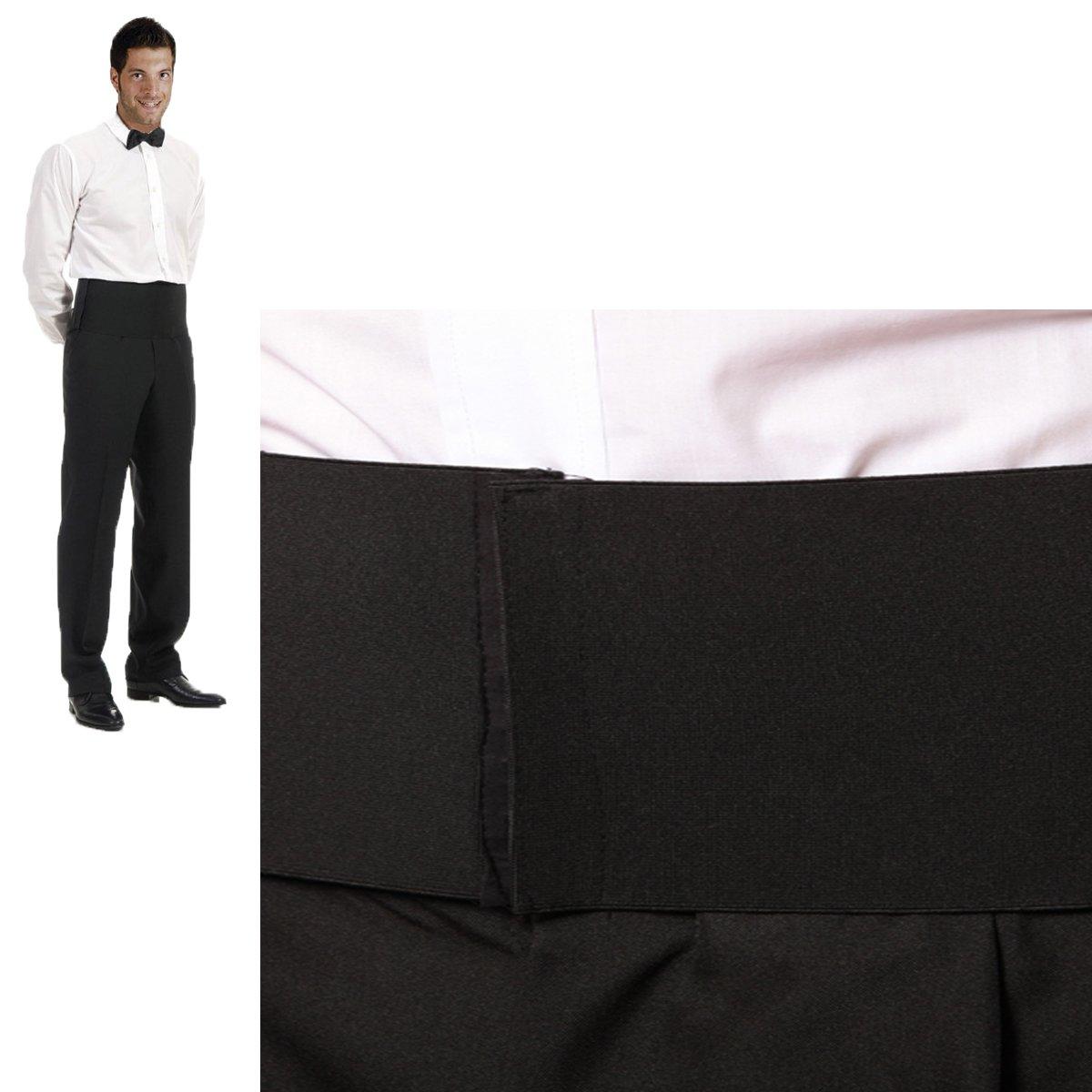 Fascia cameriere vita elastica alta nera servizio sala bar ristorante hotel