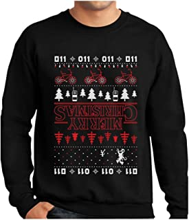 TeeStars - Merry Christmas The Upside Down Ugly Christmas Sweatshirt GhPhrM3gf