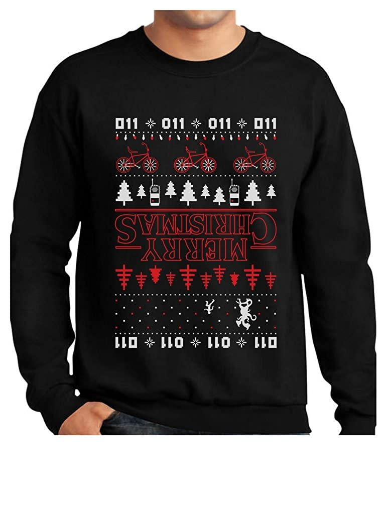 Merry Christmas The Upside Down Ugly Christmas Sweatshirt GhPhrM3gf