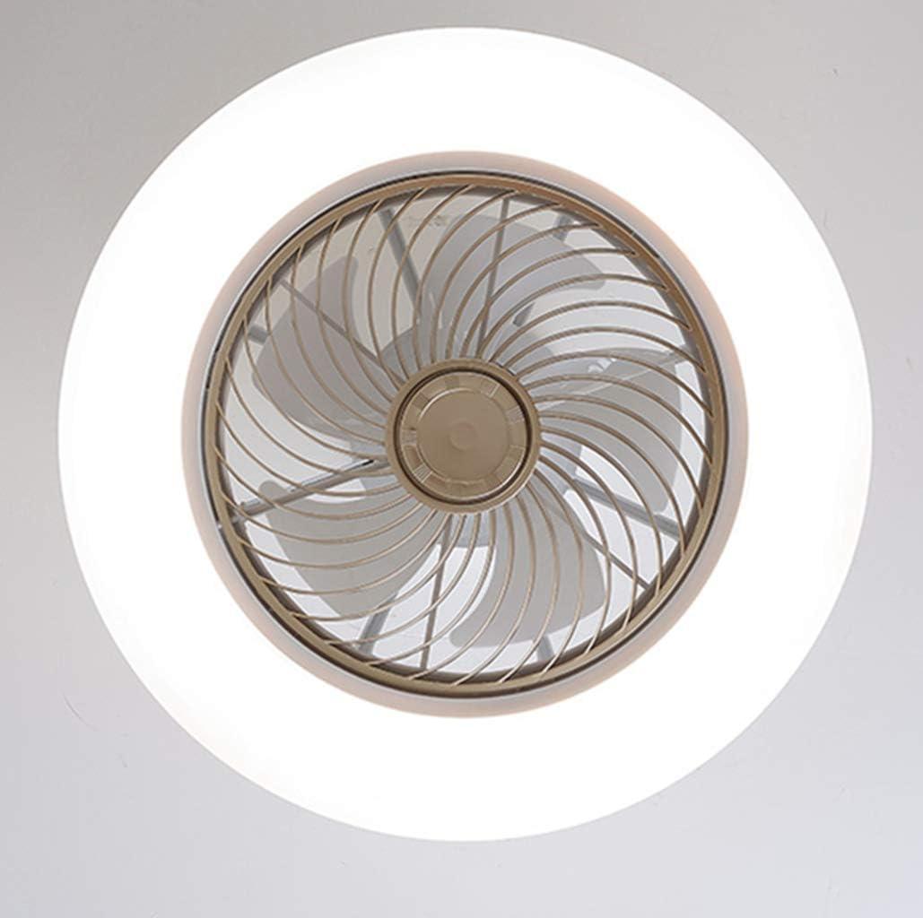 H.W.S Deckenventilator Mit Beleuchtung Creative Deckenleuchte Led Dimmbare Deckenlampe Fan Deckenleuchte Fernbedienung Ultra-Leise Kann Timing Modernes Wohnzimmer Schlafzimmer Lampe /Φ58 H20Cm